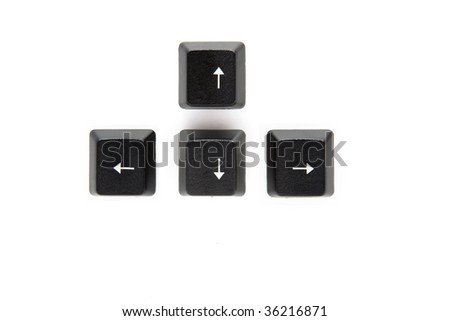 Isolated arrows from computer keyboard - stock photo