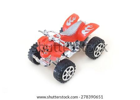 Isolated ATV Four Wheeler Quad Motorcycle Toy