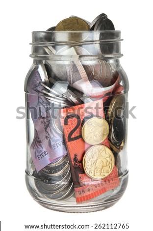 Isolated Australian Money Jar   - stock photo