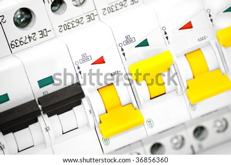 Isolated automatic electricity fuse - stock photo