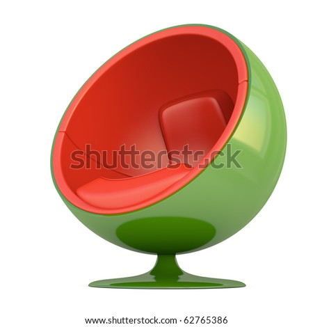 isolated ball chair