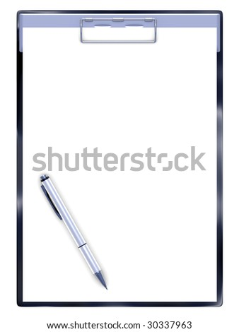 isolated ball-point pen on a white background