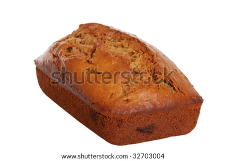 Isolated banana bread - stock photo