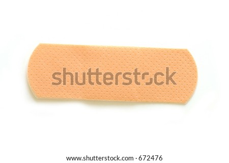 Isolated Band-Aid - stock photo