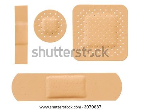 Isolated bandages set - stock photo