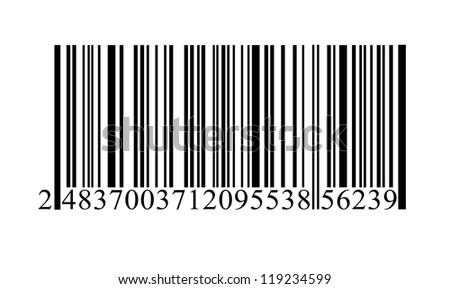 Isolated bar-code. - stock photo