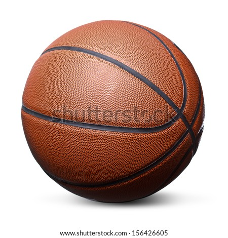 Isolated basketball on a white background - stock photo