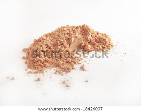 Isolated batch of powder - stock photo