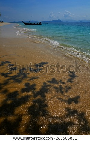 Isolated beach on tropical island, Koh Kangkao, Ranong, Thailand