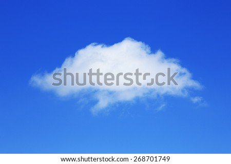 Isolated Beautiful white clouds in the blue sky on a sunny day