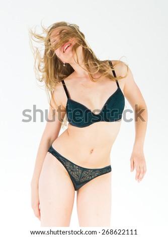 Isolated Beauty  Female Lingerie  - stock photo