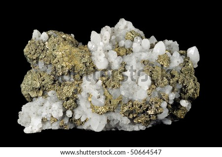 isolated beauty mineral on black background