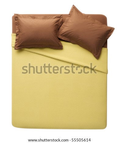 isolated bed - stock photo