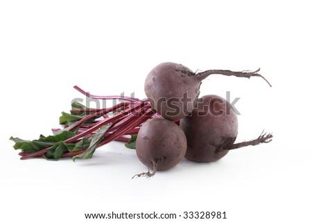 Isolated beet on white background - stock photo
