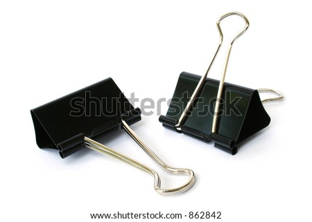 Isolated Binder Clips
