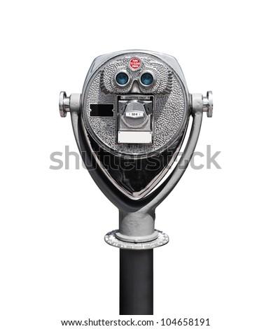 Isolated Binocular - stock photo