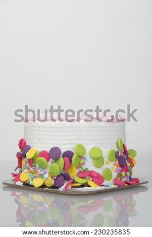 Isolated  birthday cake/Birthday Cake/Birthday cake with a white background - stock photo