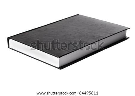 isolated black book on a white background for cutout