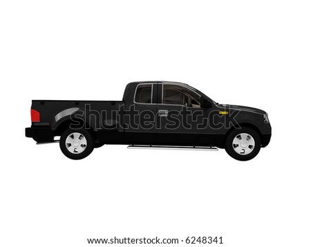 isolated black jeep car on white background