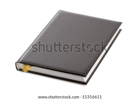 isolated black notebook organizer with white background