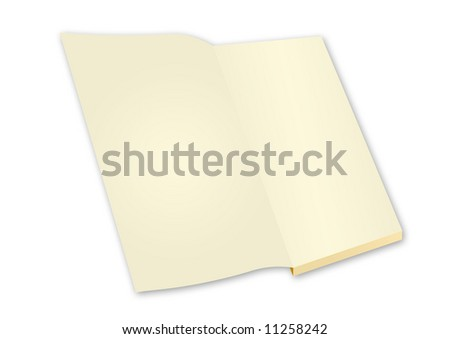 isolated blank book with open page illustration