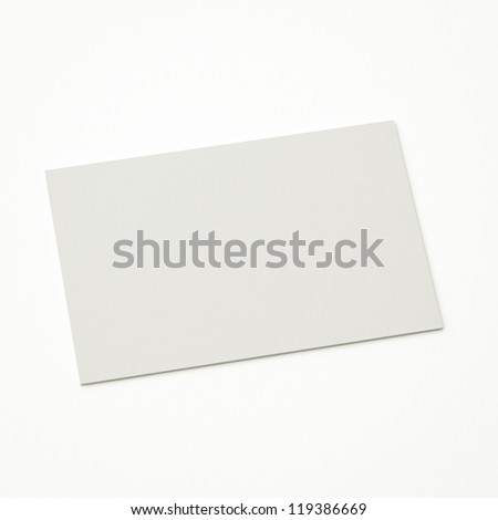isolated blank business card, to replace with own image. - stock photo
