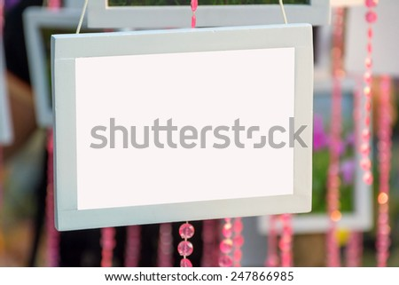 Isolated blank picture frame. - stock photo