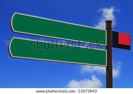 Isolated blank sign with space for text - stock photo