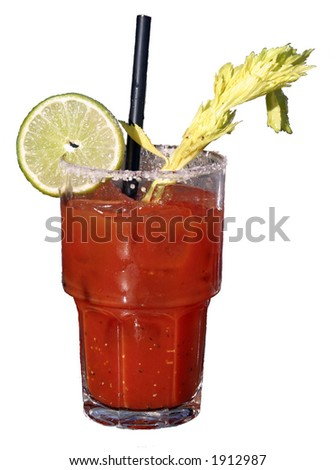 isolated bloody mary - stock photo