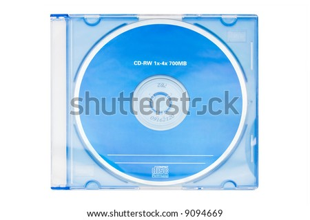 isolated blue cd
