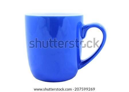 Isolated Blue Coffee Mug - stock photo