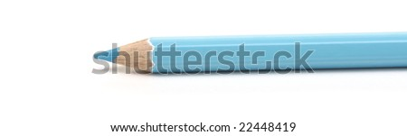 isolated blue pencil