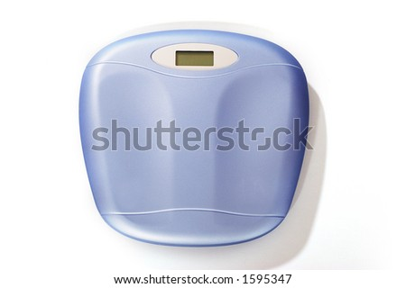 isolated blue scales - stock photo
