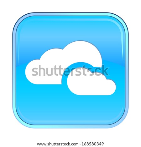 Isolated blue web icon on white background.