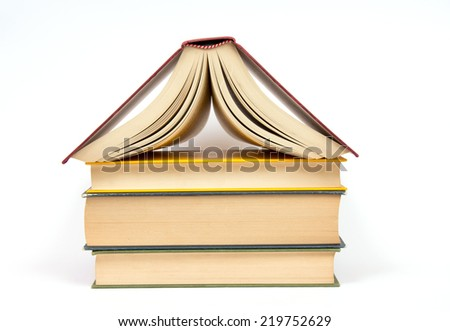 Isolated book. Concept of book store - stock photo