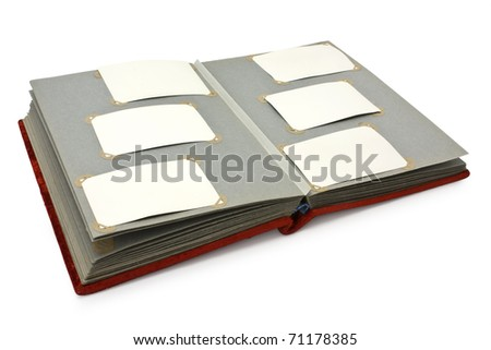 isolated book on a white background