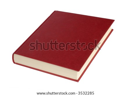 Isolated book on white background