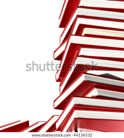 Isolated books - stock photo