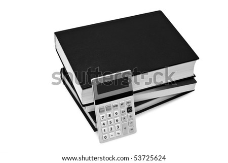 isolated books on a white background - stock photo