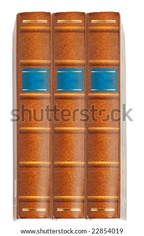 Isolated books on the white background - stock photo