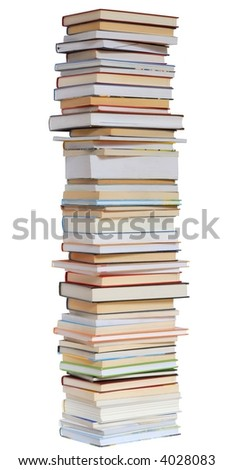Isolated books stack