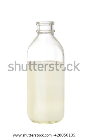 isolated bottle of milk - stock photo