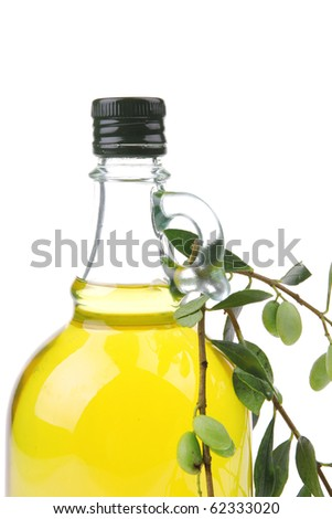 isolated bottle of oil over white background
