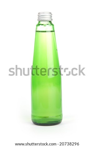 isolated bottle of wine cooler on white background