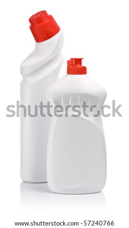 isolated bottles for cleaning