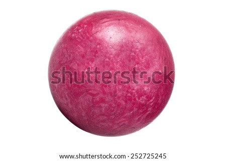 Isolated bowling ball - stock photo