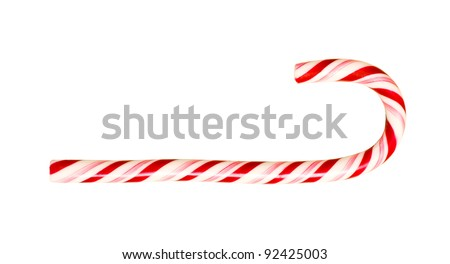 isolated bright christmas candy on white background - stock photo
