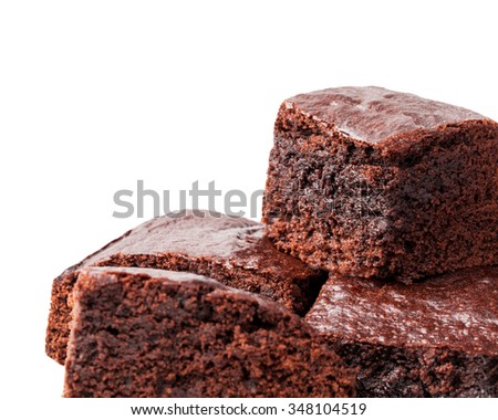 isolated brownies - stock photo
