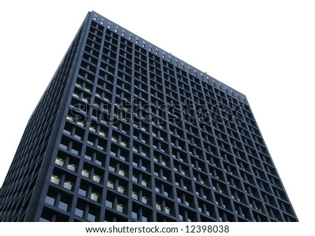 isolated building - stock photo