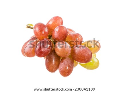 Isolated bunch of red grapes - stock photo